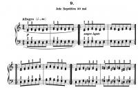 チェルニー『毎日の練習曲』9番~第1-第4リピート