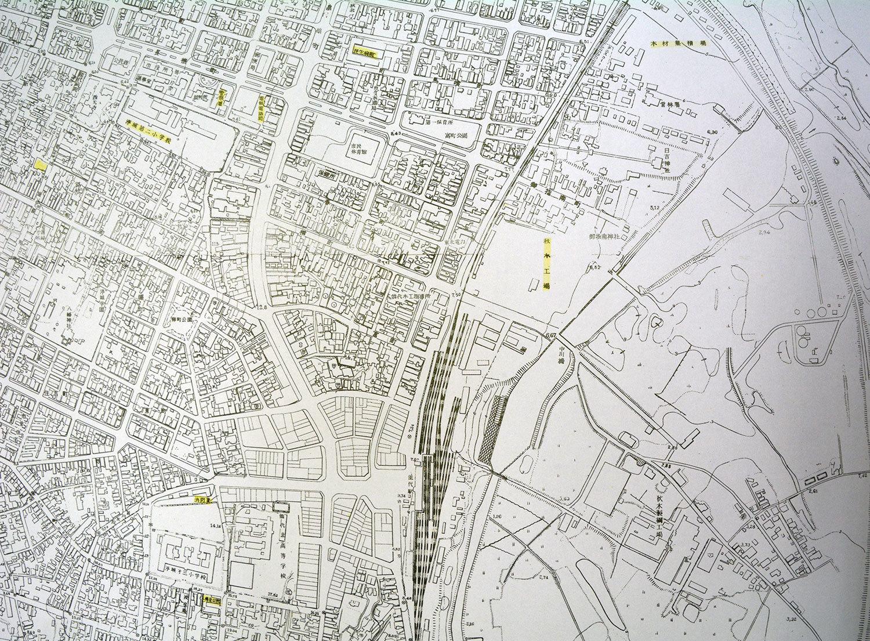 能代市中心部(部分) 昭和38年3月作成その1