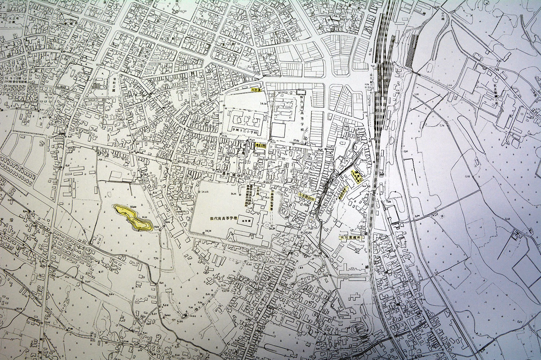 能代市中心部(部分) 昭和38年3月作成その2