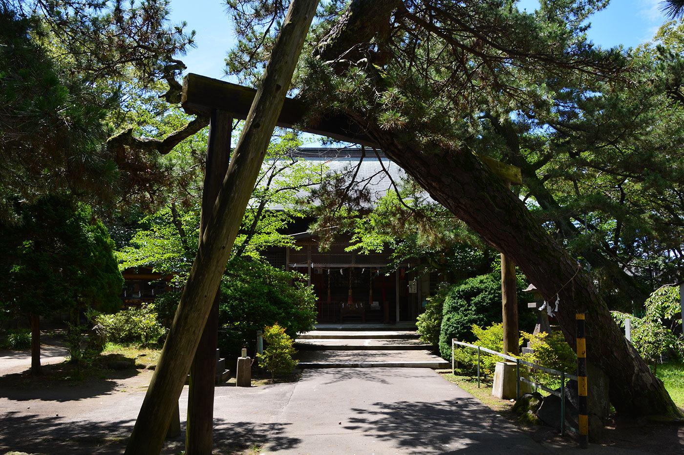 能代市柳町 八幡神社320200801