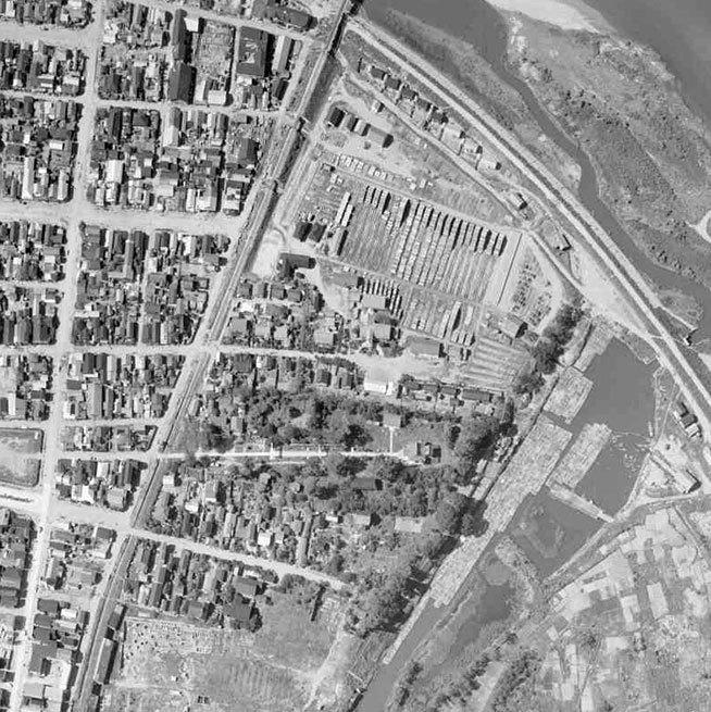 能代市御指南町 航空写真19630602
