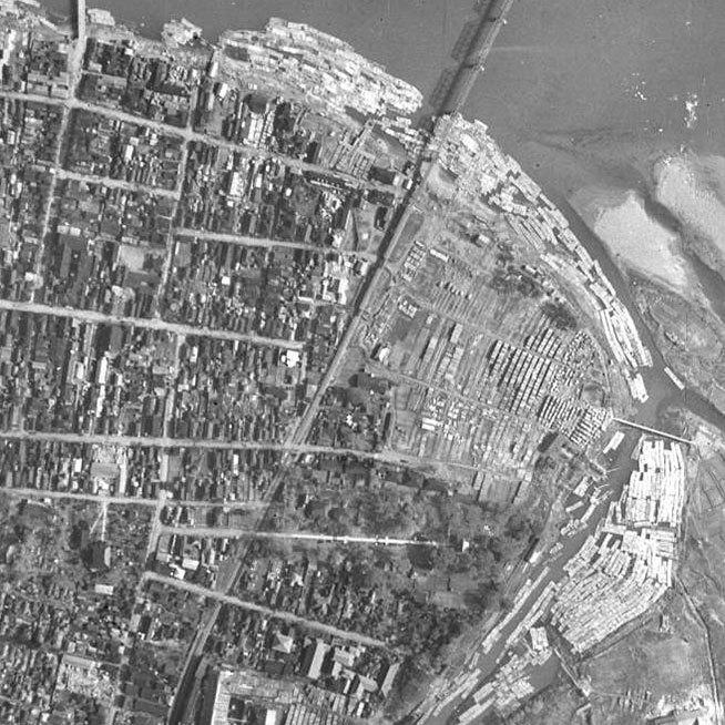 能代市御指南町 航空写真19480510