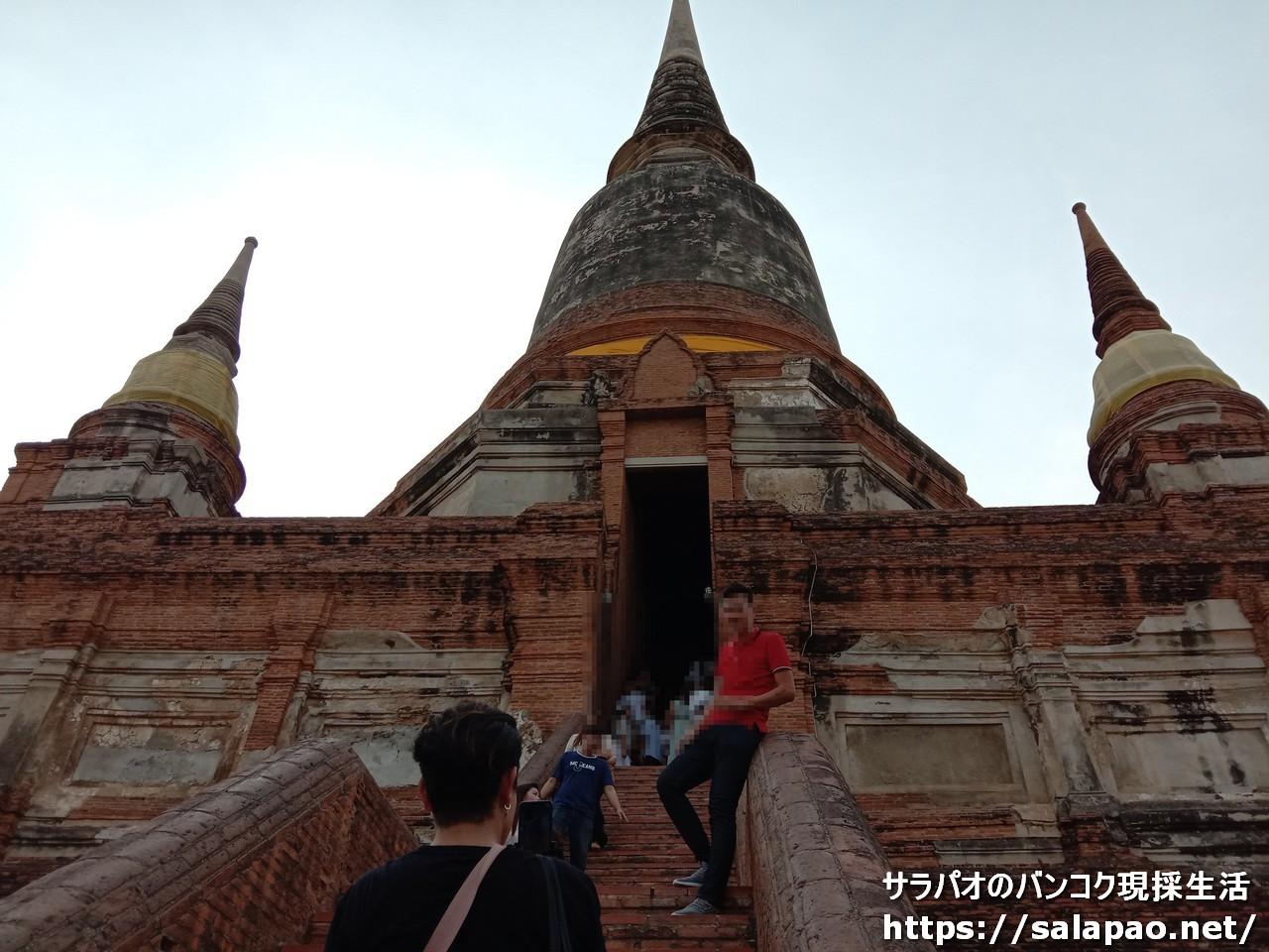 ワット・ヤイ・チャイ・モンコンの巨大仏塔は圧巻! in アユタヤ歴史公園