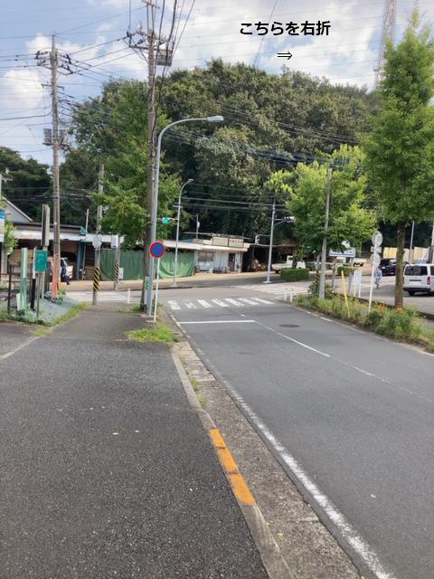 竹山から辻山方面 T字路