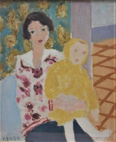 岡田謙三「母と子」