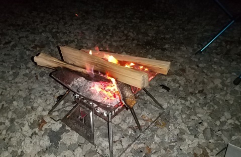 水之元-たき火