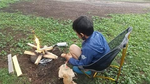 松原湖たき火