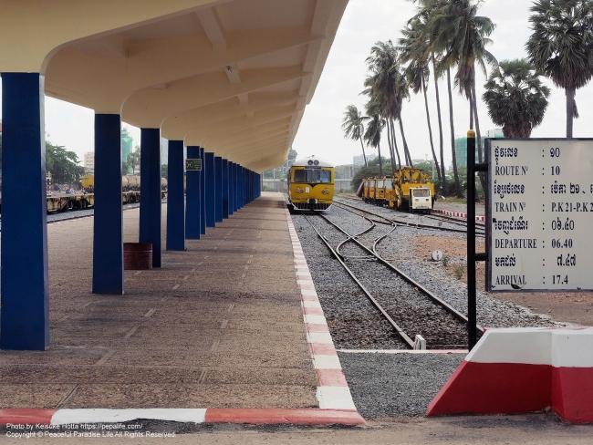 プノンペン・ロイヤル駅(Phnom Penh Royal) 2016年6月頃撮影