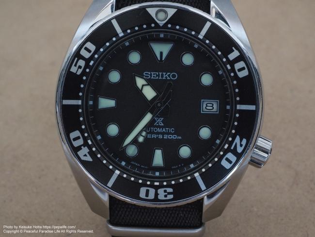 テストショット1 腕時計 SEIKO SBDC031 SUMO フラッシュ無しで撮影