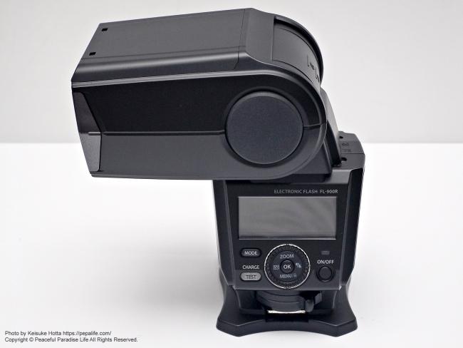 オリンパス エレクトロニックフラッシュ FL-900R バウンス撮影 横