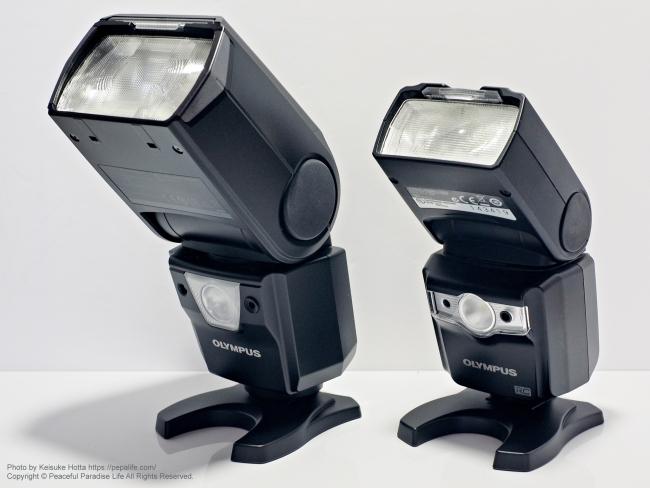 オリンパス エレクトロニックフラッシュ FL-900R と FL-600R 比較