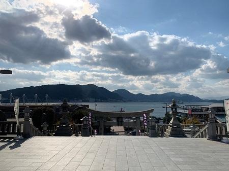 亀山八幡宮眺め