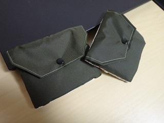 端布利用布でポケットティッシュカバー防水布ポケット側