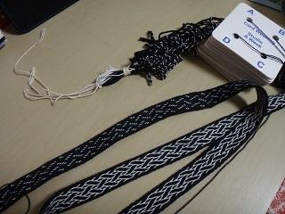 バッグ紐用カード織り