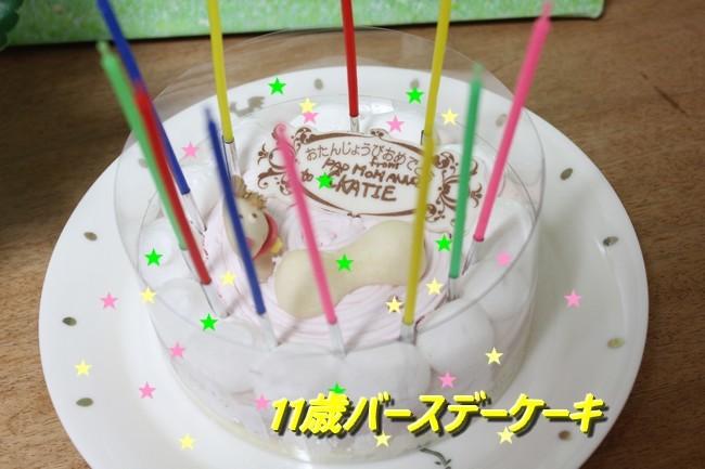 11歳バースデーケーキ