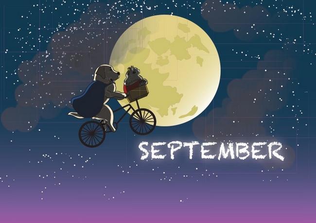 サービスドッグカレンダー9月