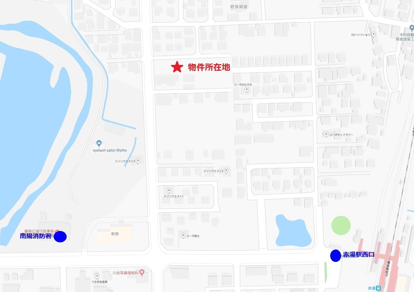 Y&M赤湯Ⅱ地図