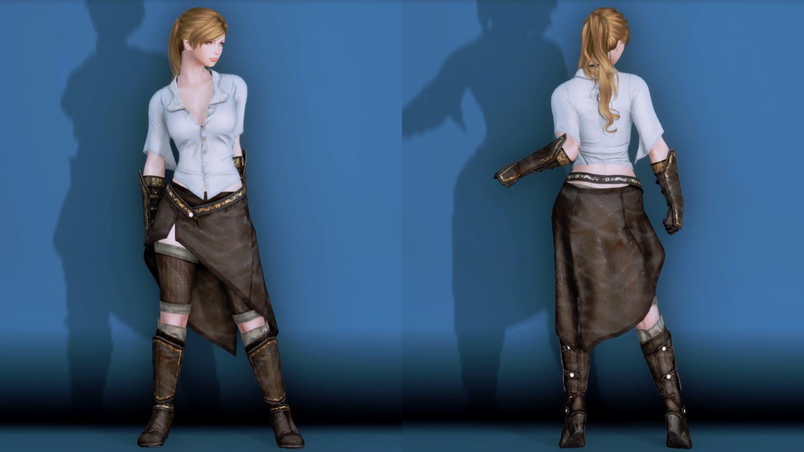 RuggedRogueSSE 111-1 Pose Fu-Ba-F Blouse Skirt 2