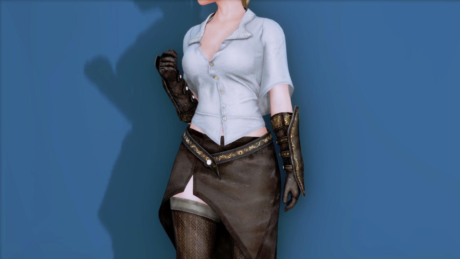 RuggedRogueSSE 112-1 Pose Up-Fr-F Blouse Skirt 1