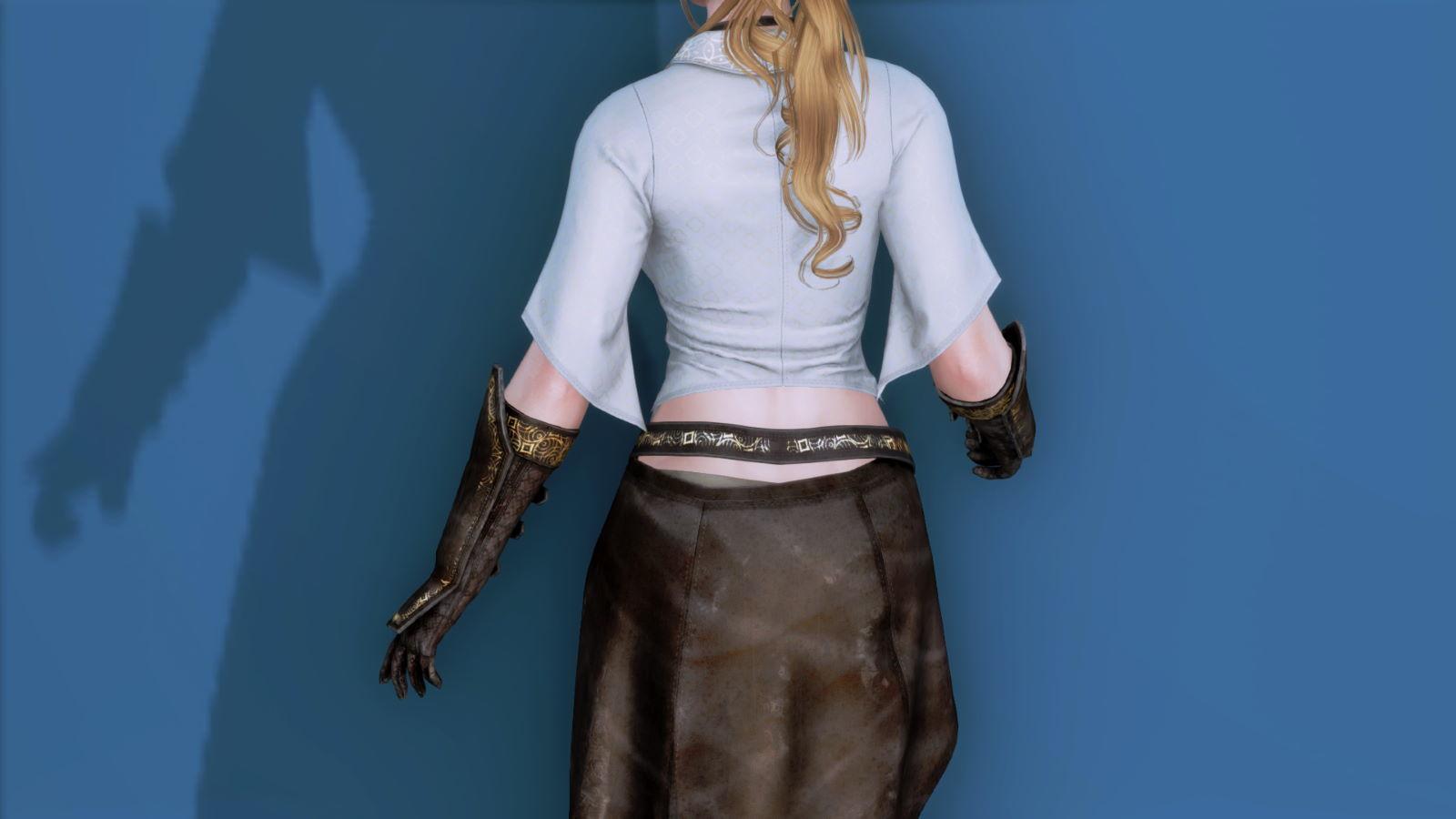 RuggedRogueSSE 113-1 Pose Up-Ba-F Blouse Skirt 1