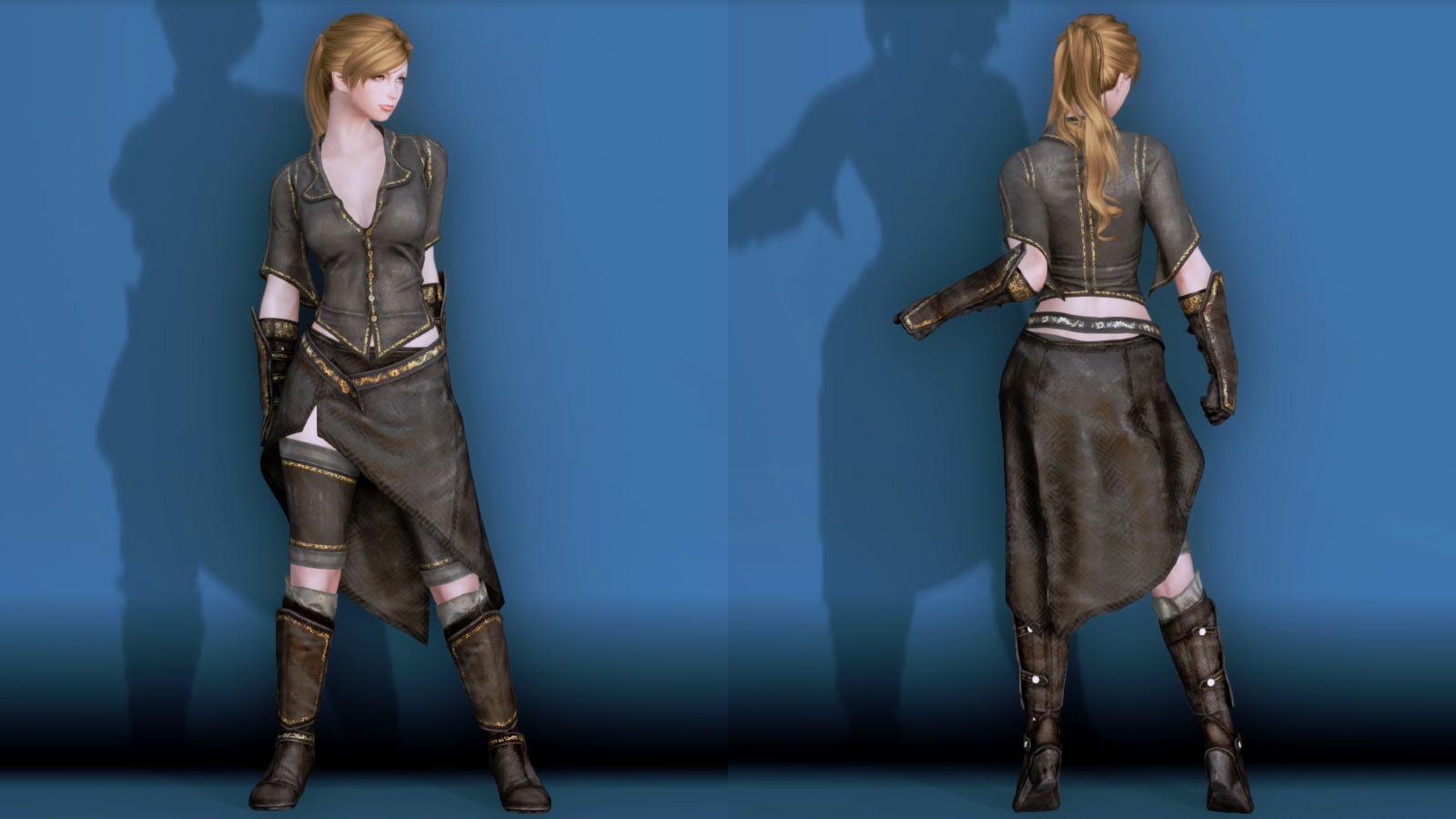 RuggedRogueSSE 121-1 Pose Fu-Ba-F Blouse Skirt W 2