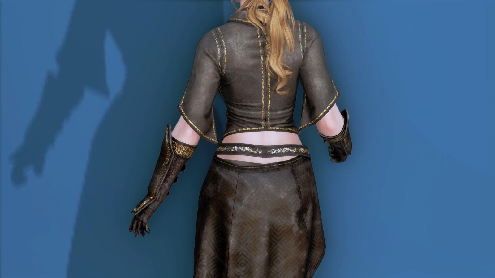 RuggedRogueSSE 123-1 Pose Up-Ba-F Blouse Skirt W 1
