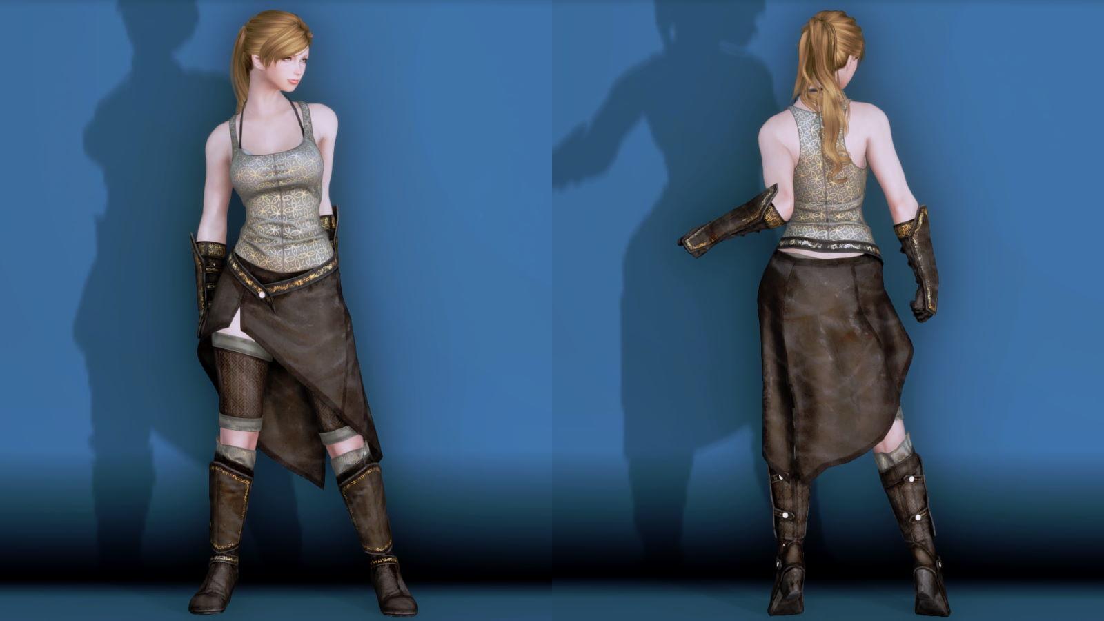 RuggedRogueSSE 211-1 Pose Fu-Ba-F Vest Skirt 2