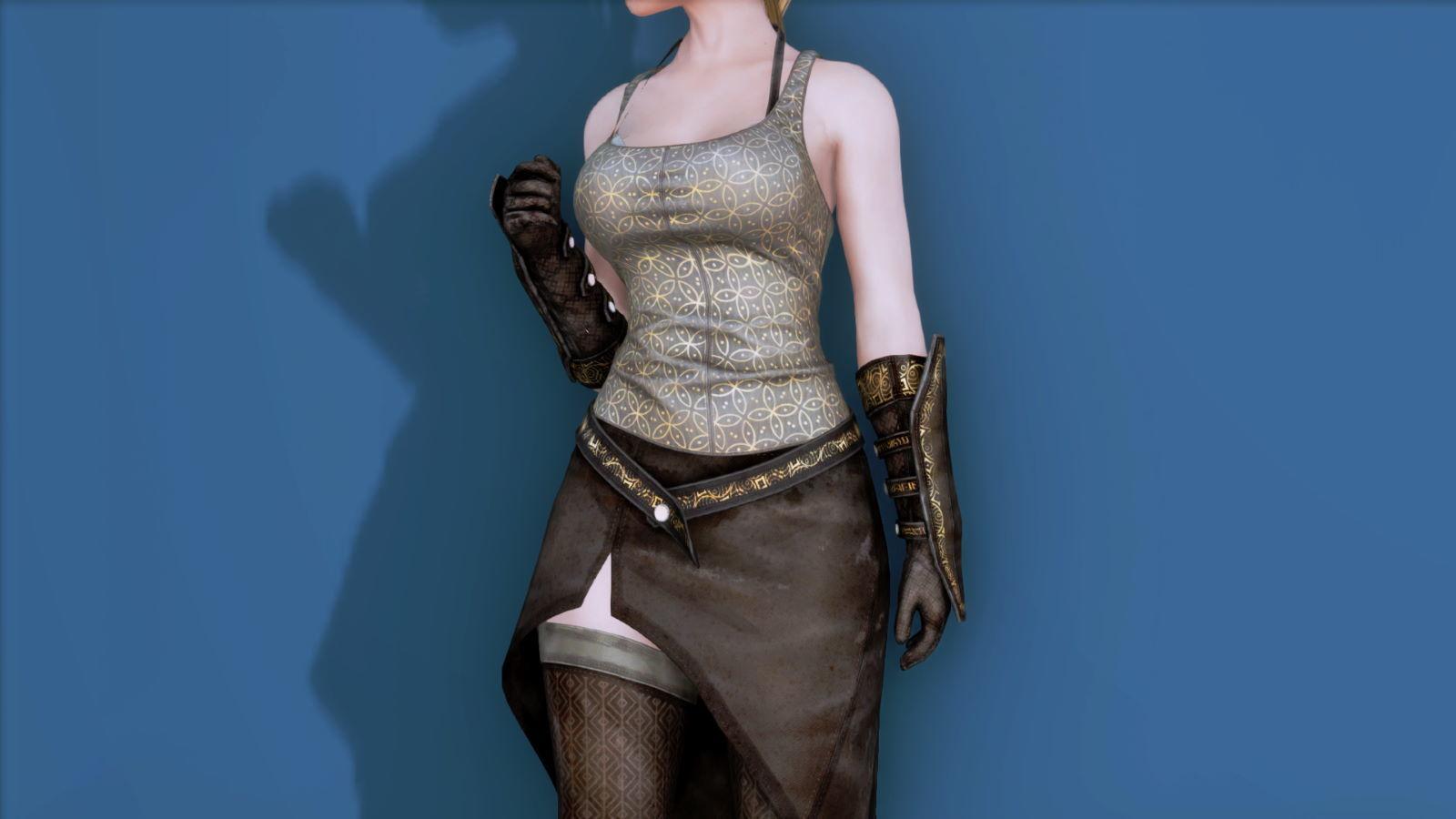RuggedRogueSSE 212-1 Pose Up-Fr-F Vest Skirt 1