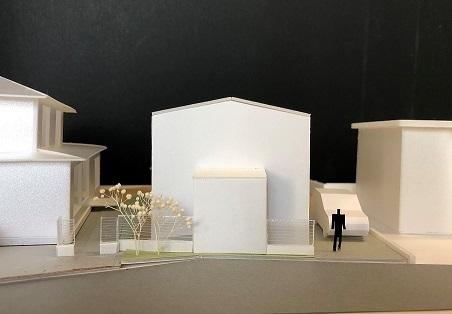 上飯田の家ラフ模型