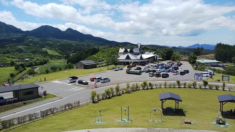 道の駅中山盆地高山ふれあい公園からの景色202006