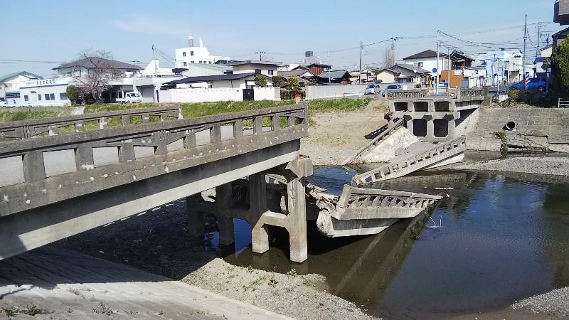 秋山川橋崩落20203