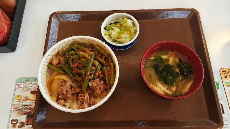 すき家ニンニクの芽牛丼20200725