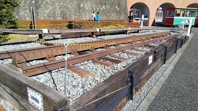 碓氷峠鉄道文化むらアプト式ラックレール202010