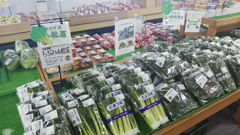 道の駅おおた小松菜ほうれん草202101