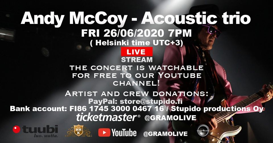 Andy McCoy Acoustic trio 26_06_2020