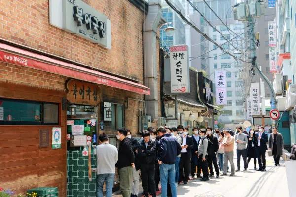 画像 韓国 ソウル市内にある人気食堂の行列はコロナ以前に戻った