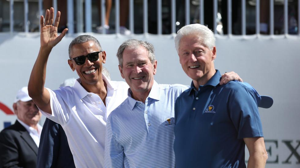 ワクチン接種に駆り出された元大統領たち