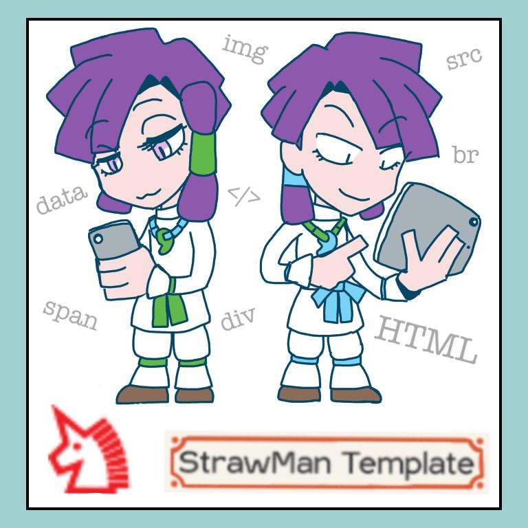 FC2ブログの共有テンプレートStrawManで自作マンガを公開しよう サムネイル画像