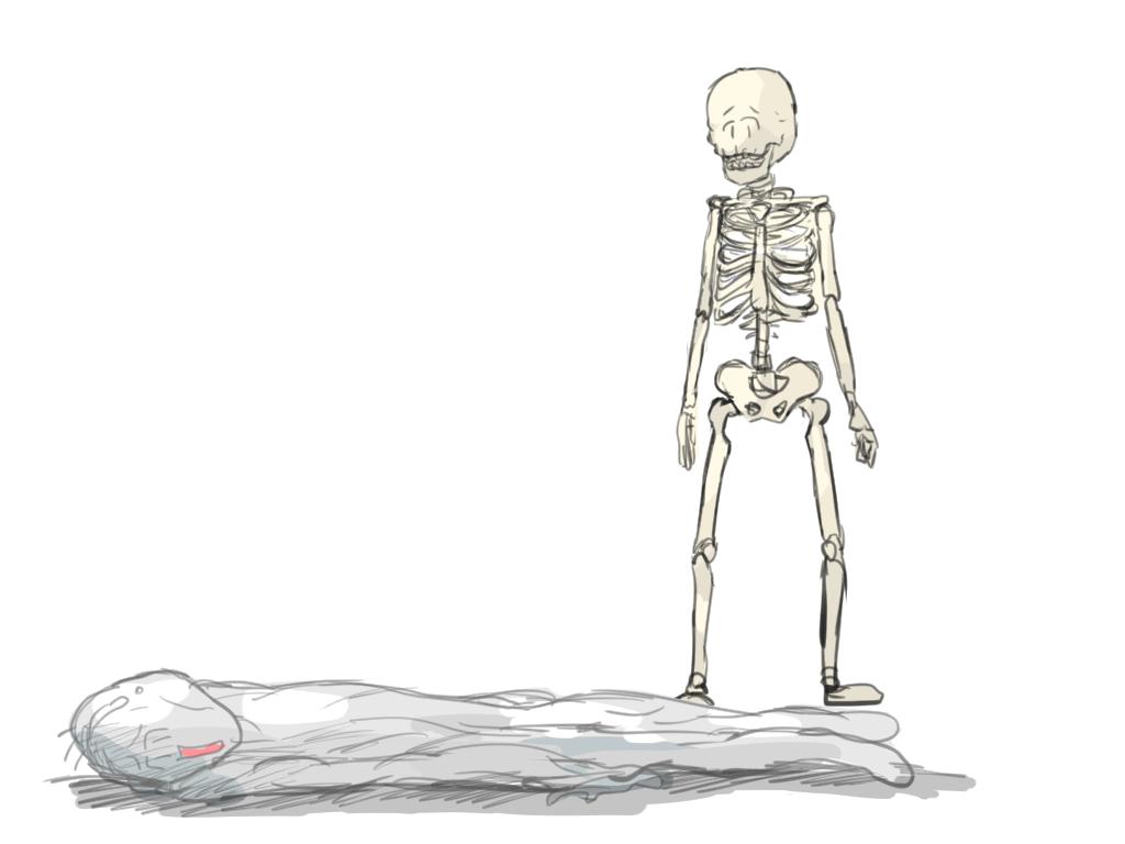 骨格に逃げられるBori