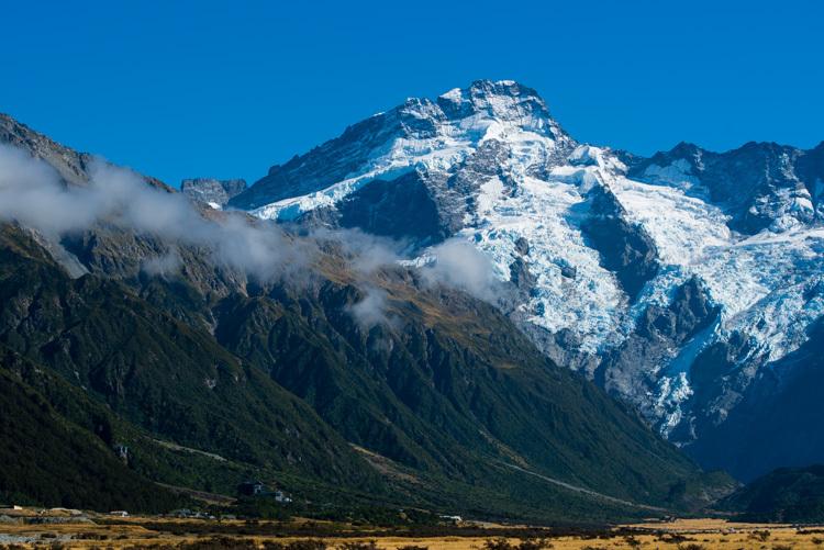 ニュージーランド マウントクック マウントセフトン 氷河