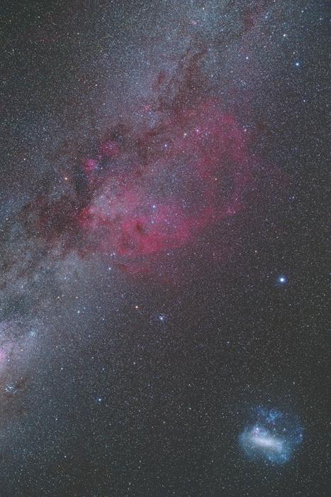 ニュージーランド 天体写真 ガム星雲 大マゼラン星雲