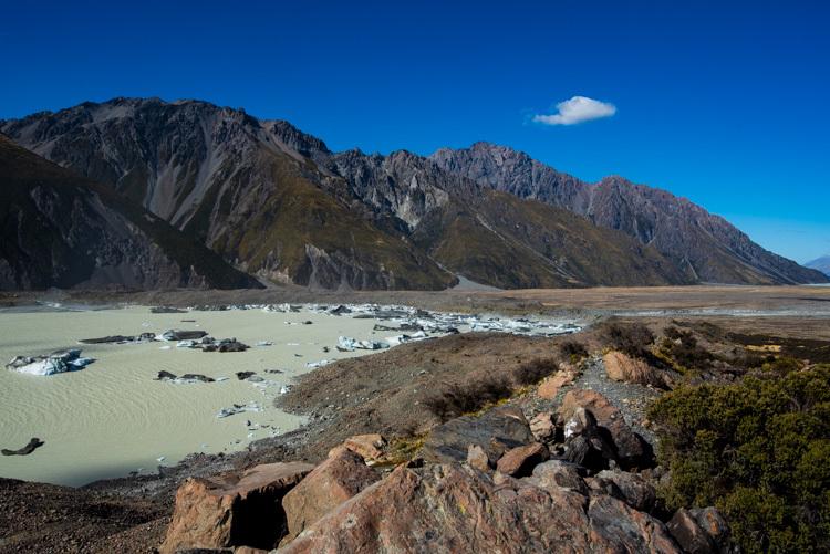 ニュージーランド ハイキング マウントクック タスマン氷河