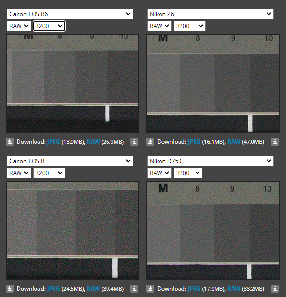 Canon EOS R6 Nikon Z6 高感度 比較