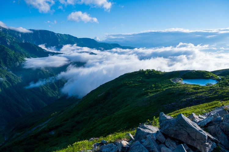 唐松岳 登山 トレッキング 八方池 雲海