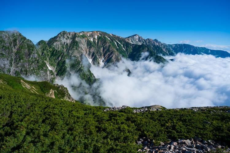 唐松岳 登山 トレッキング 丸山ケルン 白馬岳