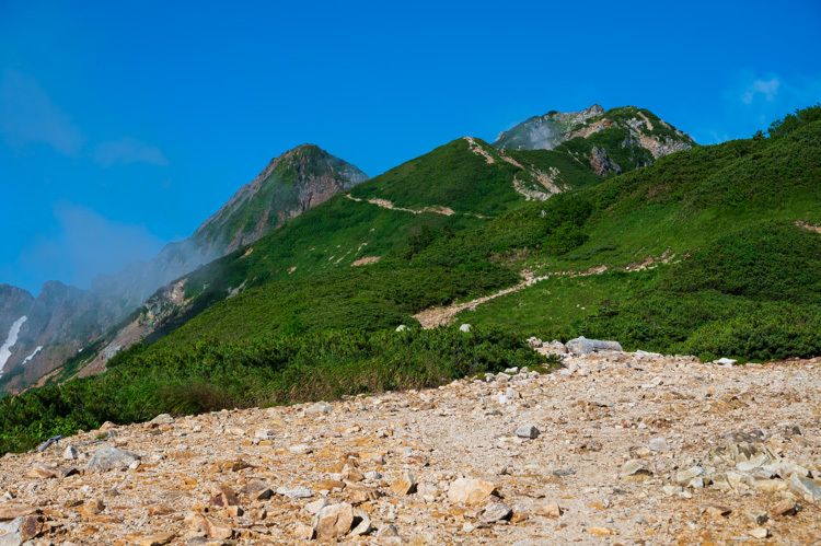 唐松岳 登山 トレッキング 丸山ケルン