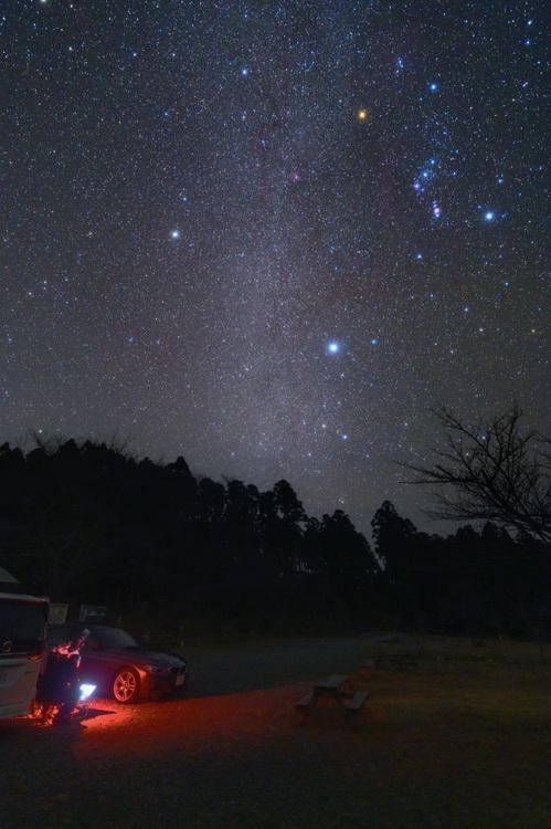 冬 星空 オリオン座 冬の大三角 天の川