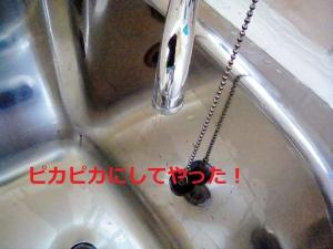 ステンレス浴槽、水道蛇口、水垢洗浄後