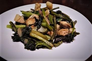 山菜胡麻炒め