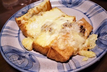 厚揚げチーズ焼き